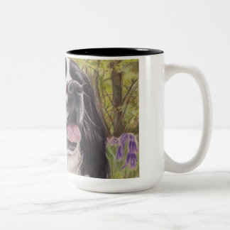 Spaniel in bluebells mug