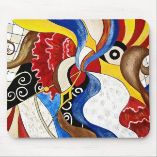 Spanish abstract art painting mouse pad