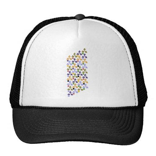 Spanish Alhambra style Tile Mosaic Pattern Hat