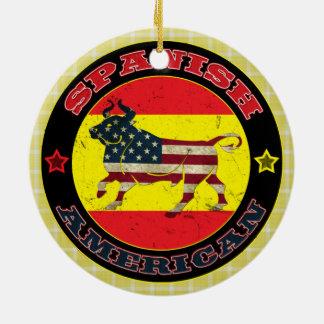 Spanish American Bull Decoration Round Ceramic Decoration
