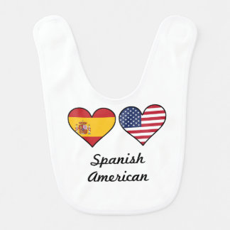 Spanish American Flag Hearts Bib