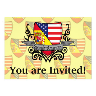 Spanish-American Shield Flag Custom Invite