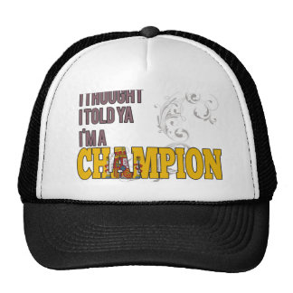 Spanish and a Champion Mesh Hat