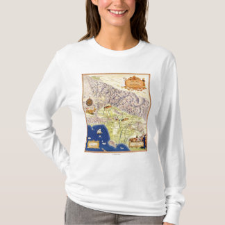 Spanish and Mexican Ranchos of Los Angeles Map T-Shirt