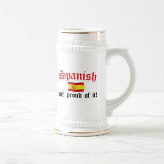 Spanish and Proud of It 18 Oz Beer Stein