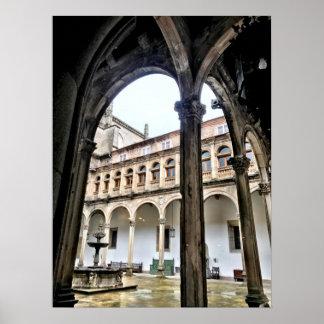 Spanish arches in Santiago De Compostela Poster