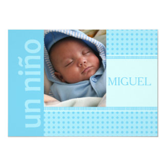 spanish Baby Boy Birth Announcement
