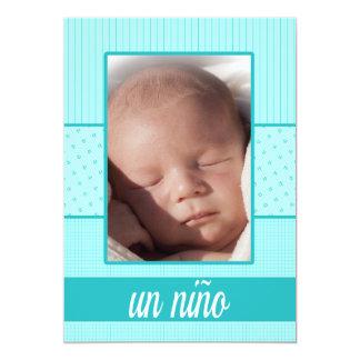 spanish Baby Boy Birth Announcement