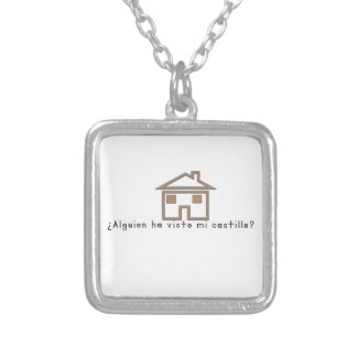 Spanish-Castle Silver Plated Necklace
