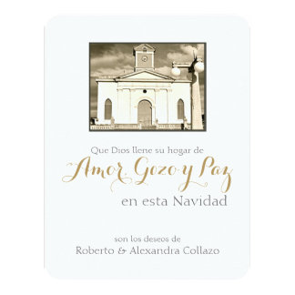 Spanish Catholic Cathedral, Puerto Rico Christmas 11 Cm X 14 Cm Invitation Card