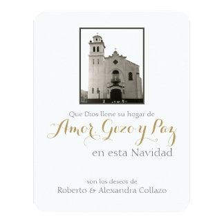 Spanish Catholic Church, Puerto Rico Christmas 11 Cm X 14 Cm Invitation Card