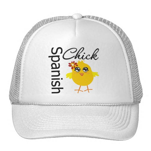 Spanish Chick Trucker Hat