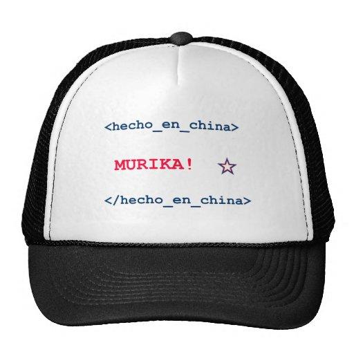 Spanish/Chinese HTML that Defines America (Murika) Hat