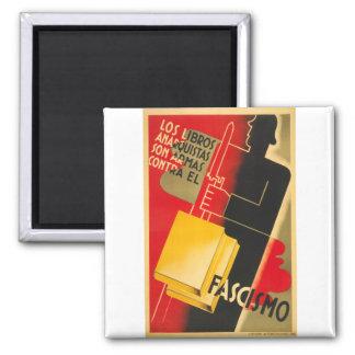 Spanish Civil War Anarchist / Facism Rare Poster Square Magnet