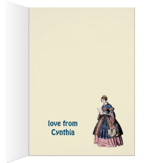 ~ SPANISH COSTUME ~ Personalised for CYNTHIA ~ Card