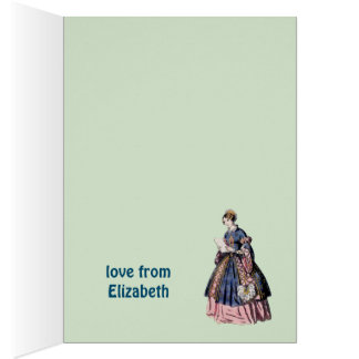 ~ SPANISH COSTUME ~ Personalised for ELIZABETH ~ Card