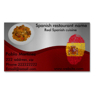 Spanish cuisine 	Magnetic business card
