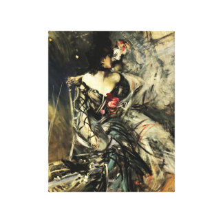 Spanish Dancer at the Rouge Canvas Print