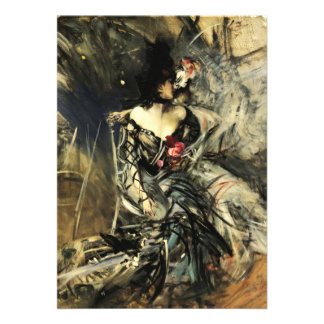 Spanish Dancer at the Rouge Invitations