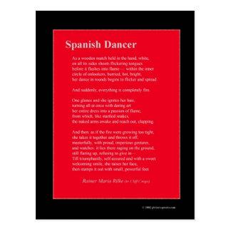 SPANISH DANCER POSTCARD