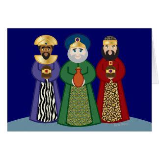 spanish DIA DE REYES *three KINGS day* greeting Greeting Cards