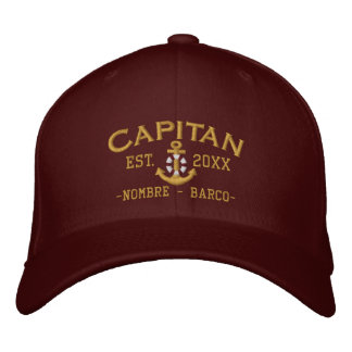 SPANISH El Capitan Captain Name and Year Baseball Cap