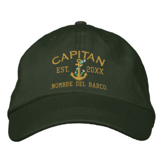 SPANISH El Capitan Easy to Personalize Embroidered Hat