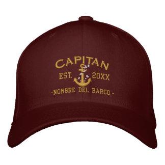 SPANISH El Capitan Elegant Custom Personalized Embroidered Cap