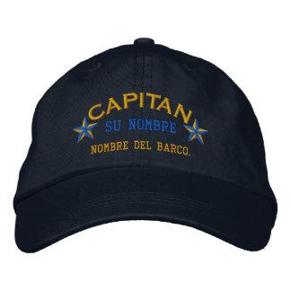 SPANISH El Capitan Nombre del barco y su nombre. Embroidered Baseball Cap