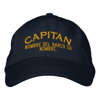 SPANISH El Capitan Nombre del barco y su nombre Embroidered Baseball Caps