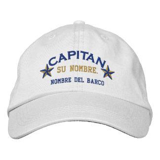 SPANISH El Capitan Nombre del barco y su nombre. Embroidered Baseball Caps