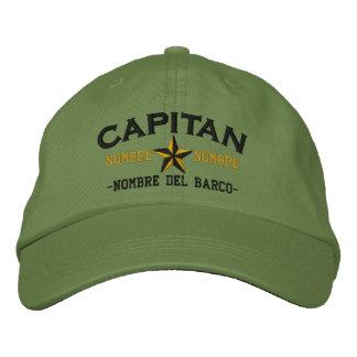 SPANISH El Capitan Nombre del barco y su nombre. Embroidered Cap