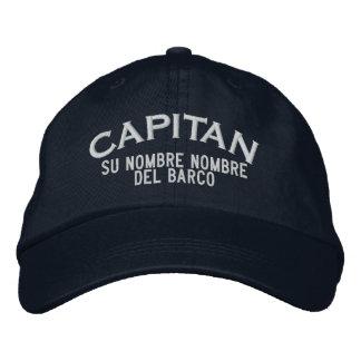 SPANISH El Capitan Nombre del barco y su nombre. Embroidered Hat