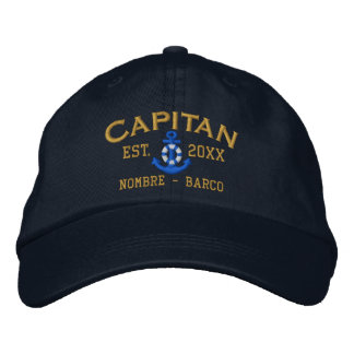 SPANISH El Capitan Style Easy to Personalize Baseball Cap