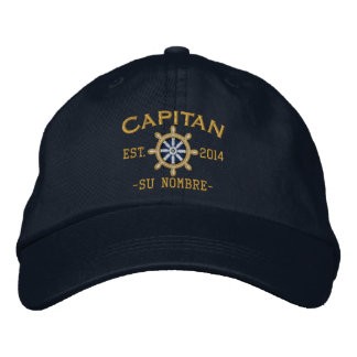 SPANISH El Capitan Su ubicación Nombre del barco. Embroidered Hats