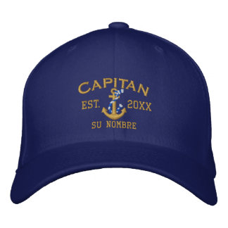 SPANISH El Capitan to Personalize with your Name Embroidered Cap
