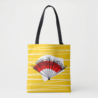 Spanish Fan all over tote