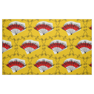Spanish Fan corners fabric large print
