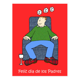 Spanish Father's day Postcard