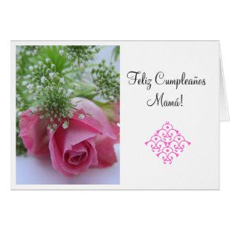 Spanish: Feliz Cumpleanos Mamá! hz tp Card