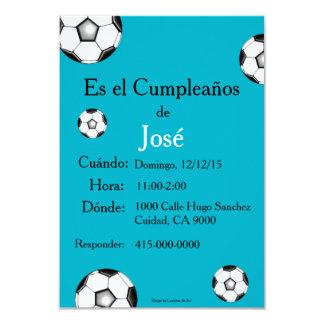 """Spanish: Fiesta de cumpleaños - Invitación 3.5"""" X 5"""" Invitation Card"""