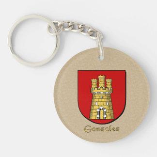 Spanish Flag and Gonzalez Historical Shield Key Ring