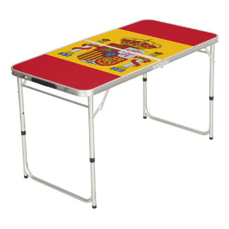 Spanish flag beer pong table