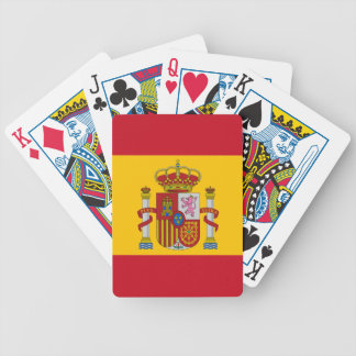 Spanish flag bicycle playing cards