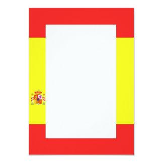 Spanish Flag Border Invitation