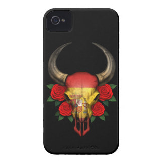 Spanish Flag Bull Skull with Red Roses Case-Mate iPhone 4 Cases
