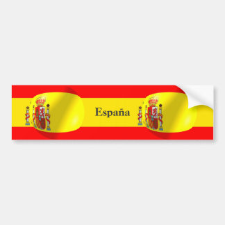 Spanish Flag Bumper Sticker