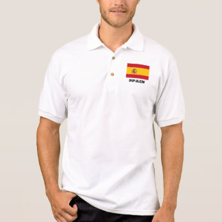 Spanish flag custom polo shirts for men and women