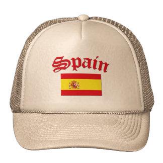 Spanish Flag Mesh Hats
