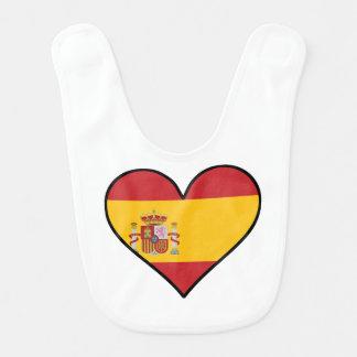 Spanish Flag Heart Bib